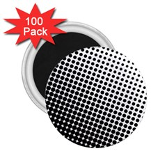 Background Wallpaper Texture Lines Dot Dots Black White 2 25  Magnets (100 Pack)