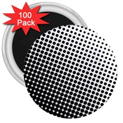 Background Wallpaper Texture Lines Dot Dots Black White 3  Magnets (100 Pack)