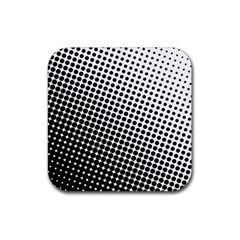 Background Wallpaper Texture Lines Dot Dots Black White Rubber Coaster (square)