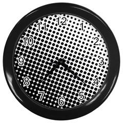 Background Wallpaper Texture Lines Dot Dots Black White Wall Clocks (black)