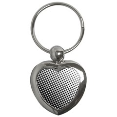 Background Wallpaper Texture Lines Dot Dots Black White Key Chains (heart)