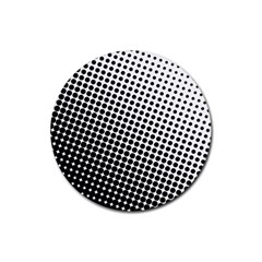 Background Wallpaper Texture Lines Dot Dots Black White Rubber Coaster (round)