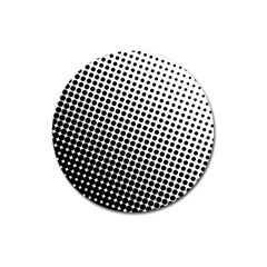 Background Wallpaper Texture Lines Dot Dots Black White Magnet 3  (round)