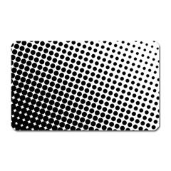 Background Wallpaper Texture Lines Dot Dots Black White Magnet (Rectangular)