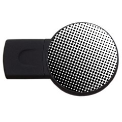 Background Wallpaper Texture Lines Dot Dots Black White Usb Flash Drive Round (2 Gb)