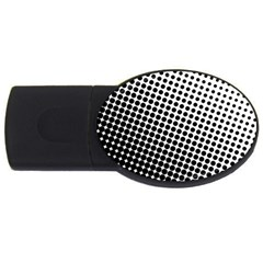 Background Wallpaper Texture Lines Dot Dots Black White USB Flash Drive Oval (2 GB)