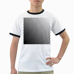 Background Wallpaper Texture Lines Dot Dots Black White Ringer T Shirts