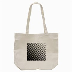 Background Wallpaper Texture Lines Dot Dots Black White Tote Bag (Cream)