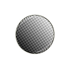Background Wallpaper Texture Lines Dot Dots Black White Hat Clip Ball Marker (4 pack)
