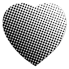 Background Wallpaper Texture Lines Dot Dots Black White Jigsaw Puzzle (heart)