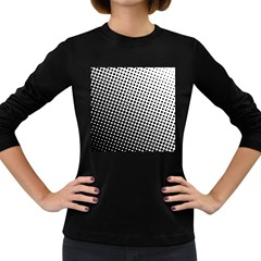 Background Wallpaper Texture Lines Dot Dots Black White Women s Long Sleeve Dark T Shirts