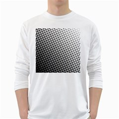 Background Wallpaper Texture Lines Dot Dots Black White White Long Sleeve T Shirts