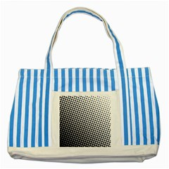 Background Wallpaper Texture Lines Dot Dots Black White Striped Blue Tote Bag