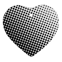 Background Wallpaper Texture Lines Dot Dots Black White Heart Ornament (two Sides)