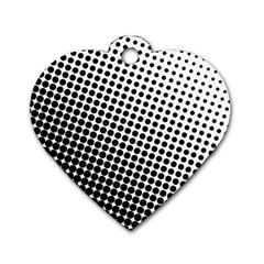 Background Wallpaper Texture Lines Dot Dots Black White Dog Tag Heart (one Side)