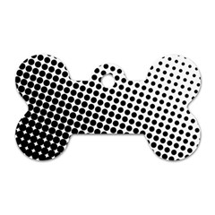 Background Wallpaper Texture Lines Dot Dots Black White Dog Tag Bone (two Sides)