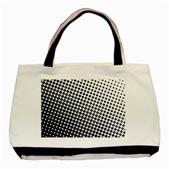 Background Wallpaper Texture Lines Dot Dots Black White Basic Tote Bag (two Sides)