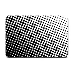 Background Wallpaper Texture Lines Dot Dots Black White Small Doormat