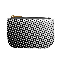 Background Wallpaper Texture Lines Dot Dots Black White Mini Coin Purses
