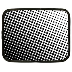 Background Wallpaper Texture Lines Dot Dots Black White Netbook Case (xxl)