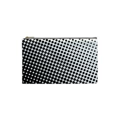 Background Wallpaper Texture Lines Dot Dots Black White Cosmetic Bag (small)
