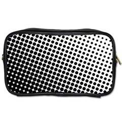 Background Wallpaper Texture Lines Dot Dots Black White Toiletries Bags 2 Side