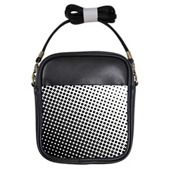 Background Wallpaper Texture Lines Dot Dots Black White Girls Sling Bags