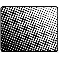 Background Wallpaper Texture Lines Dot Dots Black White Fleece Blanket (Medium)
