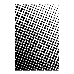 Background Wallpaper Texture Lines Dot Dots Black White Shower Curtain 48  X 72  (small)