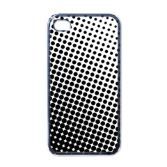 Background Wallpaper Texture Lines Dot Dots Black White Apple Iphone 4 Case (black)