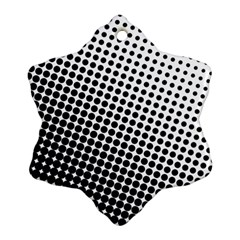 Background Wallpaper Texture Lines Dot Dots Black White Snowflake Ornament (two Sides)