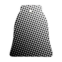 Background Wallpaper Texture Lines Dot Dots Black White Bell Ornament (two Sides)