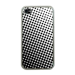 Background Wallpaper Texture Lines Dot Dots Black White Apple Iphone 4 Case (clear)