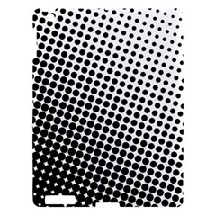 Background Wallpaper Texture Lines Dot Dots Black White Apple Ipad 3/4 Hardshell Case