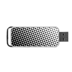 Background Wallpaper Texture Lines Dot Dots Black White Portable Usb Flash (one Side)