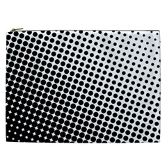 Background Wallpaper Texture Lines Dot Dots Black White Cosmetic Bag (xxl)