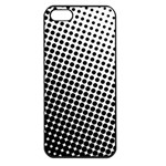 Background Wallpaper Texture Lines Dot Dots Black White Apple iPhone 5 Seamless Case (Black) Front