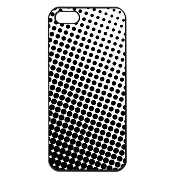 Background Wallpaper Texture Lines Dot Dots Black White Apple iPhone 5 Seamless Case (Black)