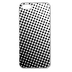 Background Wallpaper Texture Lines Dot Dots Black White Apple Seamless Iphone 5 Case (clear)