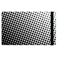 Background Wallpaper Texture Lines Dot Dots Black White Apple Ipad 3/4 Flip Case