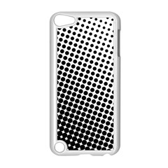 Background Wallpaper Texture Lines Dot Dots Black White Apple Ipod Touch 5 Case (white)