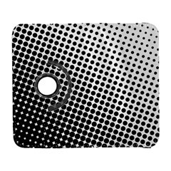 Background Wallpaper Texture Lines Dot Dots Black White Galaxy S3 (flip/folio)