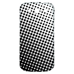 Background Wallpaper Texture Lines Dot Dots Black White Samsung Galaxy S3 S Iii Classic Hardshell Back Case