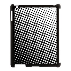 Background Wallpaper Texture Lines Dot Dots Black White Apple Ipad 3/4 Case (black)