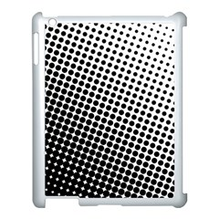 Background Wallpaper Texture Lines Dot Dots Black White Apple Ipad 3/4 Case (white)