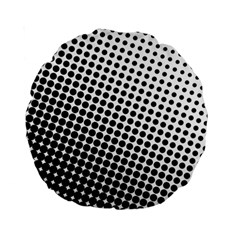 Background Wallpaper Texture Lines Dot Dots Black White Standard 15  Premium Round Cushions