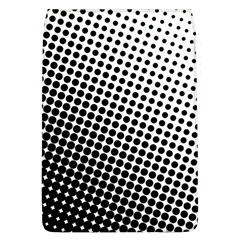 Background Wallpaper Texture Lines Dot Dots Black White Flap Covers (l)