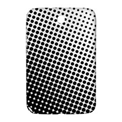 Background Wallpaper Texture Lines Dot Dots Black White Samsung Galaxy Note 8 0 N5100 Hardshell Case