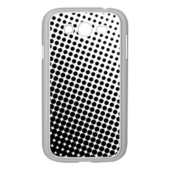 Background Wallpaper Texture Lines Dot Dots Black White Samsung Galaxy Grand Duos I9082 Case (white)