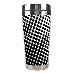 Background Wallpaper Texture Lines Dot Dots Black White Stainless Steel Travel Tumblers